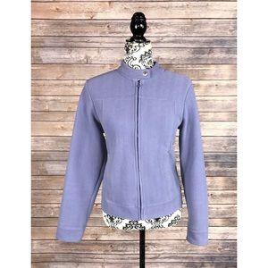 L. L. Bean sweater lavender full zip Sz M Jacket